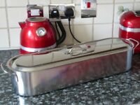 Long Large Stainless Steel Fish Kettle Steamer Poacher - 60 cm - Excellent Condition