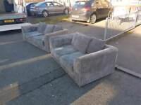 3+2 grey jumbo cord sofa
