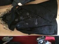 Black lady coat