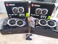 2 x MSI RTX 2080 super VENTUS graphics card plus NVlink