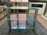 Tv corner stand - glass