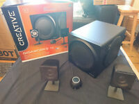 Creative Gigaworks T3 2.1 Speakers for PC (including subwoofer)