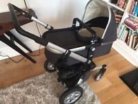 Joolz Day travel system in dark grey - excellent condition with lots of extras