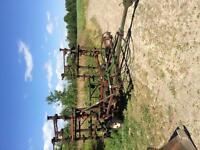 Fold down, cultivator 3 hydraulic cylinders and bush hog 5 foot