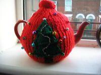 Christmas tea pot and cosy