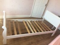 "The Childrens Furniture Co White Single ""Nevis"" Sleigh Bed Frame"