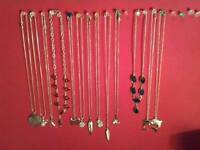 Selection of new silver necklaces