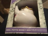New sealed in box Disney beauty beast Mrs Potts money box £18 each see pictures