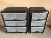 B & Q plastic drawer set.