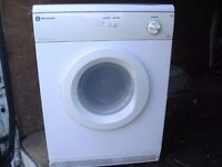 white knight tumble dryer 6kg vented
