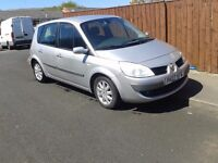 2007 renault scenic 1.6 petrol,6 speed,taxed and m.o.td drive away bargain £495