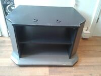 TWO TIER GREY TV/ENTERTAINMENT UNIT STAND CABINET-STRONG STURDY HEAVY DUTY