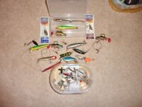 A Collection of Various Fishing Lures and Spinners