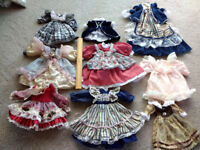 JOB LOT OF DOLLS CLOTHES, DIFFERENT SIZES AND COLOURS
