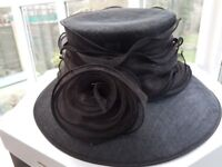 Lovely hat for wedding or special occasion. Black lace