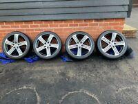 VW Golf R MK7 Cadiz 18'' Alloy Wheels and Tyres x 4