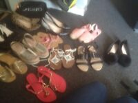 Flats and heels and sandles 11 pairs
