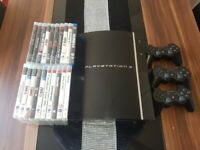 Playstation 3 with 3 controllers and games