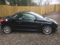 peugoet 206 cc soft top 2003 93000 miles long mot in black swop px anything considered