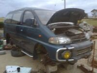 mitsubishi delica L400 LWB (4m40) royal exceed breaking for parts