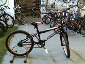 GIRLS HARLEM K100 BMX BIKE 20 INCH WHEELS BLACK/PINK OK CONDITION