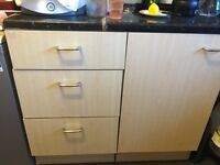 Free Used kitchen units and worktop