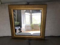 Square Gold Frame Mirror