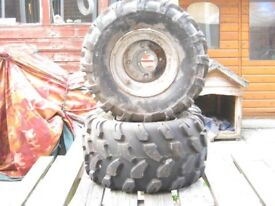 quad wheels new tyres
