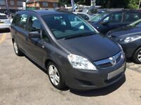 2009/59 VAUXHALL ZAFIRA 1.6i 16V EXCLUSIVE 5DR GREY,7 SEATER FAMILY SUV,GREAT CONDITION, DRIVES WELL