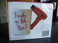 Hairdryer Cup Mug With Hairdryer Handle Great for Hairdressers Novelty Mug New in Box