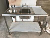 New unused Stainless steel double sink unit