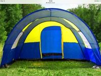 Large 4 - 6 man tunnel tent with beds