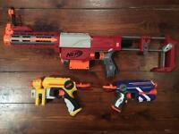 3 x Various Nerf Guns,