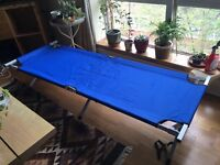 2 x barely used foldable MultiWare campbeds, set up in 3 minutes