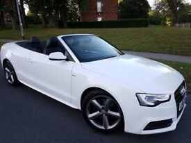 -- 2013 AUDI A5 S-LINE CONVERTIBLE ONLY 50K MILES EXCELLENT CONDITION -WARRANTY- PX? --