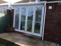Aluminum bi folding doors