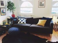 Brown 3-Seater IKEA KARLSTAD 3 Sofa / Couch
