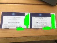 2 x Take That tickets London O2 Arena Monday 12th June