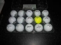 15 x MINT GOLF BALLS, TAYLOR MADE, NIKE, SRIXON AND CALLAWAY