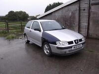SEAT IBIZA 1.4 2001 3 DOOR MOT TILL APRIL 2017
