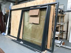 Visoglide Aluminium Patio door Grey 7016