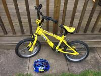 Kids 16in bike yellow