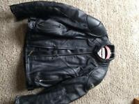 Leather motorcycle jacket by Teknic size 45