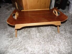 vintage folding wooden bed tray