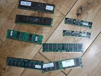 pc and laptop memory 1 gig strips bargain £15 the lot
