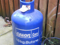 empty 15kg butane gas bottle