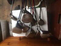 2 job lots of golf clubs.