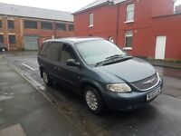 7 Seats Chrysler Voyager with tow bar in petrol,px welcome