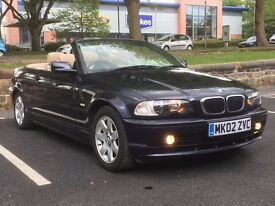 2002 BMW 318 CI CONVERTIBLE * 2 OWNER * FULL HISTORY * LONG MOT * PX WELCOME * DELIVERY *