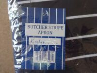 Butcher's apron - striped with pocket. Good stocking filler!